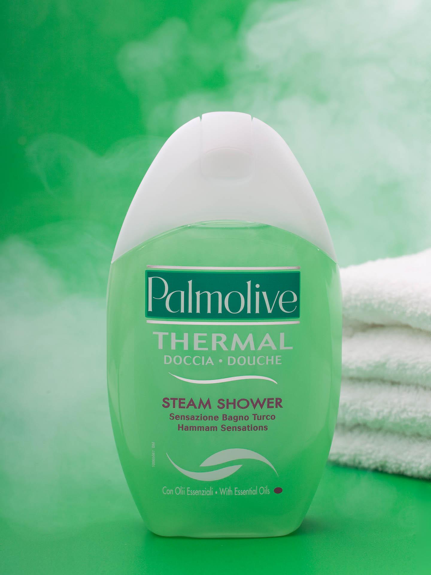 Productfoto van Palmolive Steamshower gefotografeerd door Robert Zwart productfotograaf